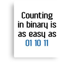 Counting In Binary Canvas Print
