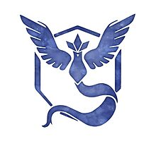 Pokemon Go - Team Mystic Watercolor Logo by Denise Giffin