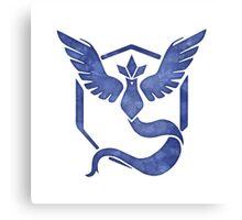 Pokemon Go - Team Mystic Watercolor Logo Canvas Print