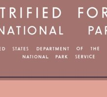 Petrified Forest National Park Sign, Arizona, USA Sticker