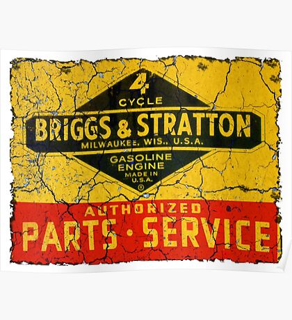 Briggs and Stratton vintage small engines. Poster