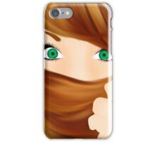 Girl with cool hair iPhone Case/Skin