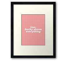 Bae: Bucky Above Everything Framed Print