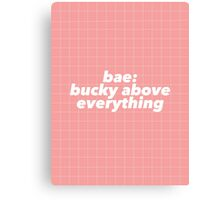 Bae: Bucky Above Everything Canvas Print