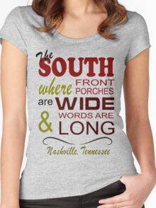 Nashville Living in the South Women's Fitted Scoop T-Shirt