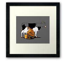 Milking Out Framed Print