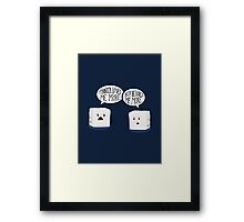 Sugar Cubes Framed Print