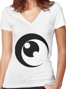 Op 3 Women's Fitted V-Neck T-Shirt