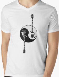 Guitar Yin Yang Mens V-Neck T-Shirt