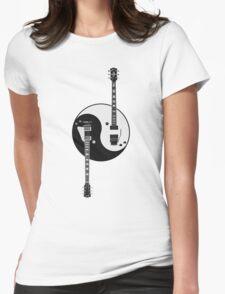 Guitar Yin Yang Womens Fitted T-Shirt
