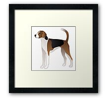 American Foxhound Basic Breed Silhouette Framed Print