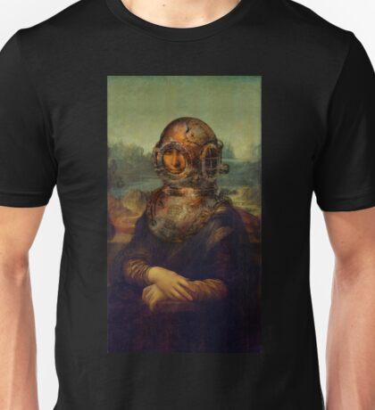 Steampunk Mona Lisa Diver's Helmet - Leonardo da Vinci Unisex T-Shirt