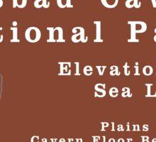 Carlsbad Caverns National Park Sign, New Mexico, USA Sticker