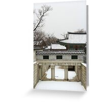 Snowy View of the Palace Greeting Card