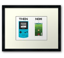 Then and Now - Pokemon Framed Print