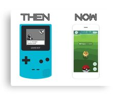 Then and Now - Pokemon Canvas Print