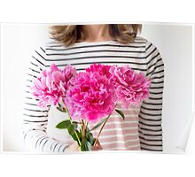 Peonies for you! Poster