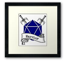 Warrior Dungeons and Dragons Framed Print