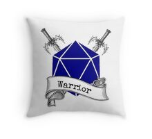Warrior Dungeons and Dragons Throw Pillow