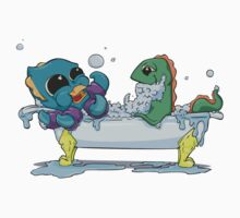 Kraken & Loch Ness in the Tub One Piece - Short Sleeve