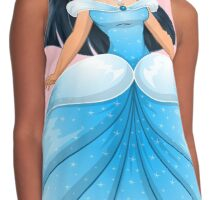 Asian Princess in Blue Dress Contrast Tank