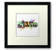 Here for the Dole Whip (with Flowers) Framed Print