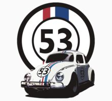 HERBIE 53 - THE LOVE BUG  One Piece - Short Sleeve