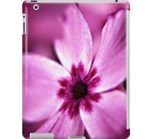 Pink Dwarf Phlox flower iPad Case/Skin