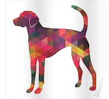 American Foxhound - Colorful Geometric Pattern Silhouette - Multi Poster