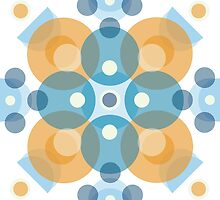 Blue & Orange Kaleidoscope by katherinepaulin