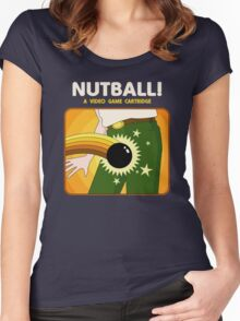 NUTBALL! - NEW ATARI GAME Women's Fitted Scoop T-Shirt