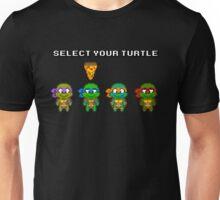 Select Your Turtle (Leonardo) - TMNT Pixel Art Unisex T-Shirt