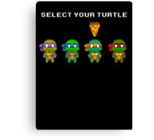 Select Your Turtle (Michelangelo) - TMNT Pixel Art Canvas Print
