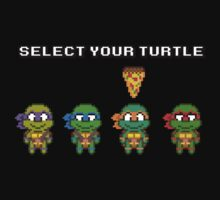 Select Your Turtle (Michelangelo) - TMNT Pixel Art T-Shirt