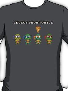 Select Your Turtle (Michelangelo) - TMNT Pixel Art T-Shirt
