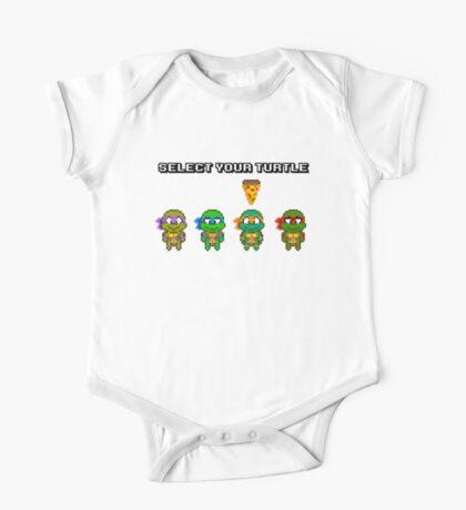 Select Your Turtle (Michelangelo) - TMNT Pixel Art One Piece - Short Sleeve