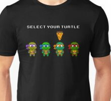 Select Your Turtle (Michelangelo) - TMNT Pixel Art Unisex T-Shirt