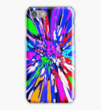 Dalhis Psychedelic Blue Abstract iPhone Case/Skin