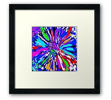 Dalhis Psychedelic Blue Abstract Framed Print