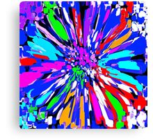 Dalhis Psychedelic Blue Abstract Canvas Print