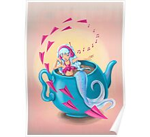 Teapot Mermaid Poster
