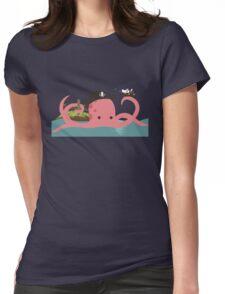 Kraken playing pirates Womens Fitted T-Shirt