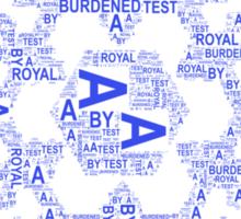 A Royal Test Sticker