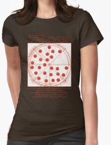 Leonardo da Vinci's Pizza  Womens Fitted T-Shirt