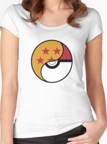-GEEK- Pokemon X DBZ Women's Fitted Scoop T-Shirt