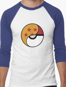 -GEEK- Pokemon X DBZ Men's Baseball ¾ T-Shirt