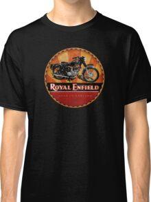 Royal Enfield Vintage Motorcycles UK INDIA Classic T-Shirt