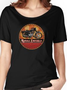 Royal Enfield Vintage Motorcycles UK INDIA Women's Relaxed Fit T-Shirt