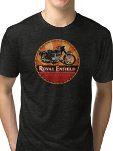 Royal Enfield Vintage Motorcycles UK INDIA Tri-blend T-Shirt
