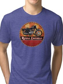 Royal Enfield Vintage Motorcycles UK INDIA Tri-blend T-Shirt
